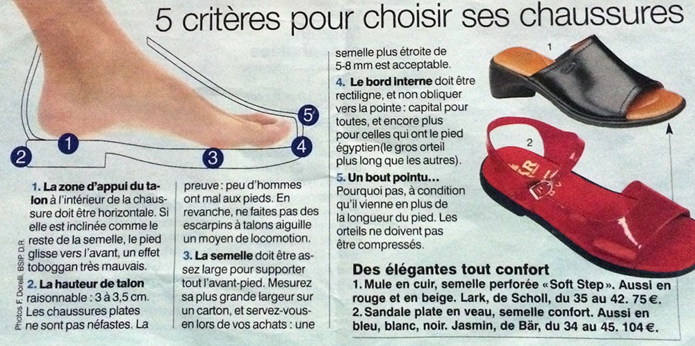 criteres chaussures