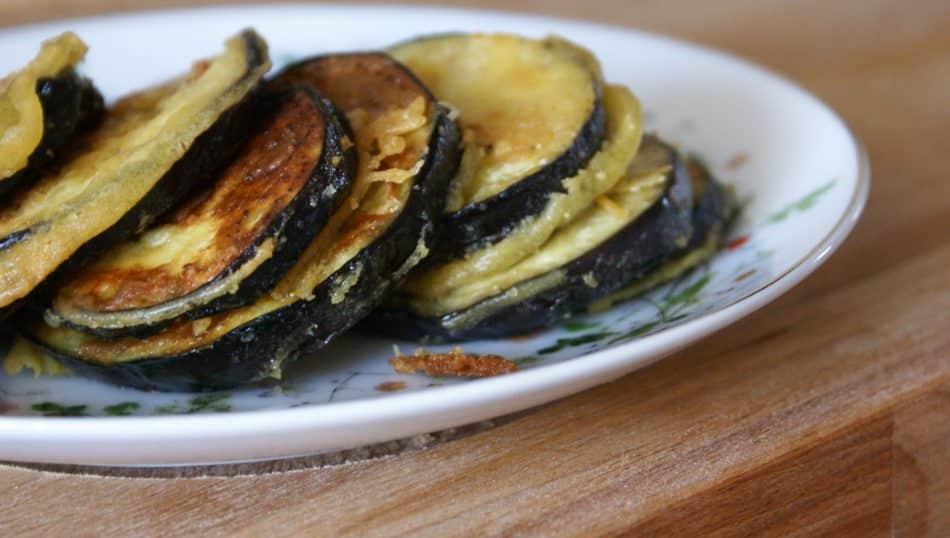 Beignets d'aubergines sans gluten sans lactose