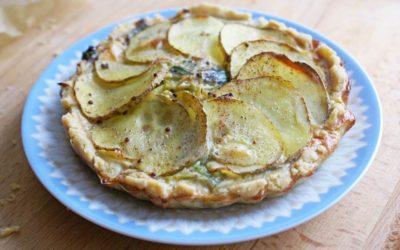Tartelette sans gluten poireaux et pommes de terre
