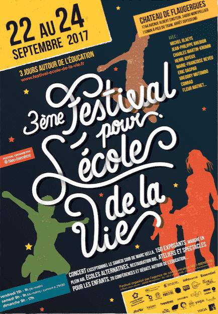 Affiche du troisième Festival de L'école de la Vie