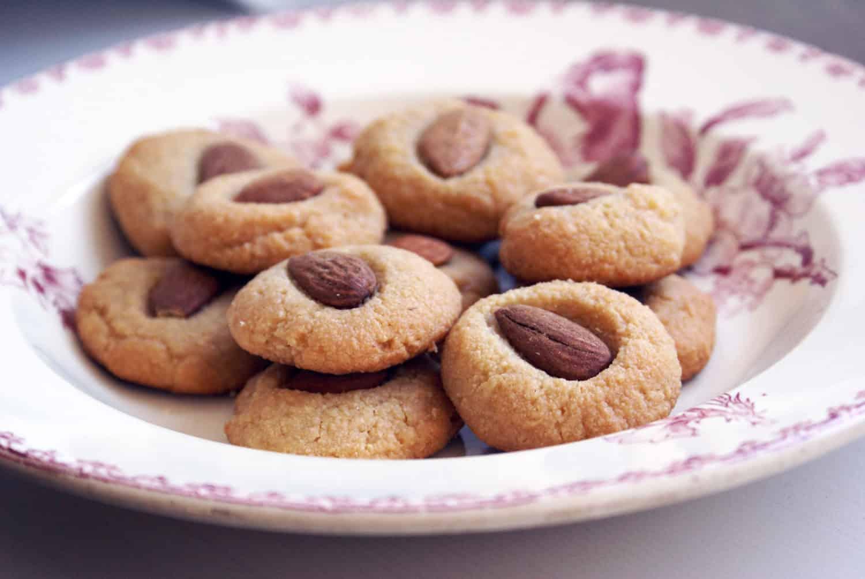 Petits biscuits vegan et sans gluten à l'amande